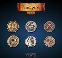 Legendary Metall Münzen Set Vampire