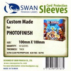 Swan card protection sleeves 100mm x 100mm, 50 pcs thick