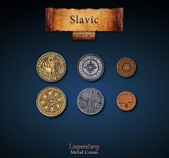 Legendary Metall Münzen Set Slawen