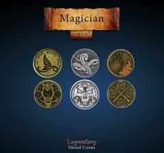 Legendary Metall Münzen Set Magier