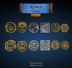 Legendary Metall Münzen Set Space Units