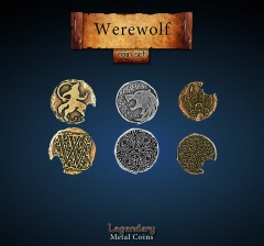 Legendary Metall Münzen Set Werwolf