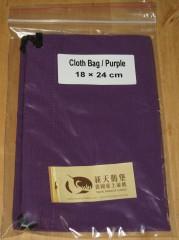 Stoffbeutel 18x24 cm violett