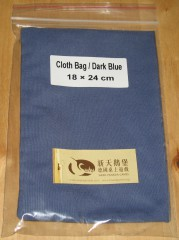 Stoffbeutel 18x24 cm dunkelblau