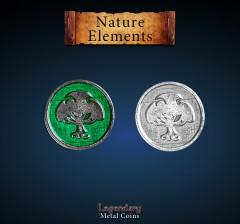 Legendary Metall Münzen Nature (Tree) Element Set