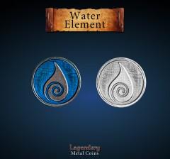 Legendary Metall Münzen Water Element Set