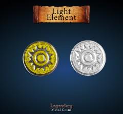 Legendary Metall Münzen Light Element Set