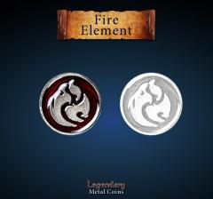 Legendary Metall Münzen Fire Element Set