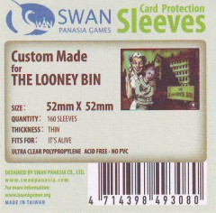 Swan card protection sleeves 52mm x 52mm, 160 pcs thin