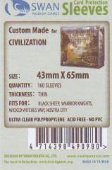 Kartenhüllen, 43mm x 65mm, 160 Hüllen, dünn