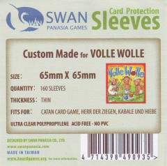 Swan card protection sleeves 65mm x 65mm, 160 pcs thin
