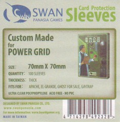 Swan card protection sleeves 70mm x 70mm, 100 pcs thick
